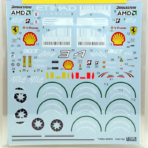 ([Tabu Design/tab Designs] 1/20 Ferrari F60 full Sponsor Decal)