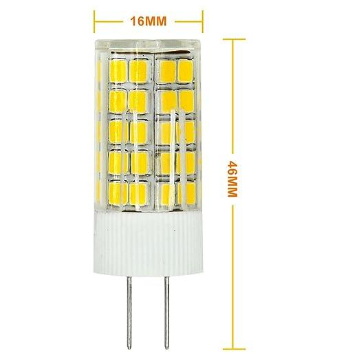 MENGS® Pack de 2 Bombilla lámpara LED 6 Watt G4, 63x2835 SMD, Blanco Cálido 3000K, AC/DC 12V: Amazon.es: Iluminación