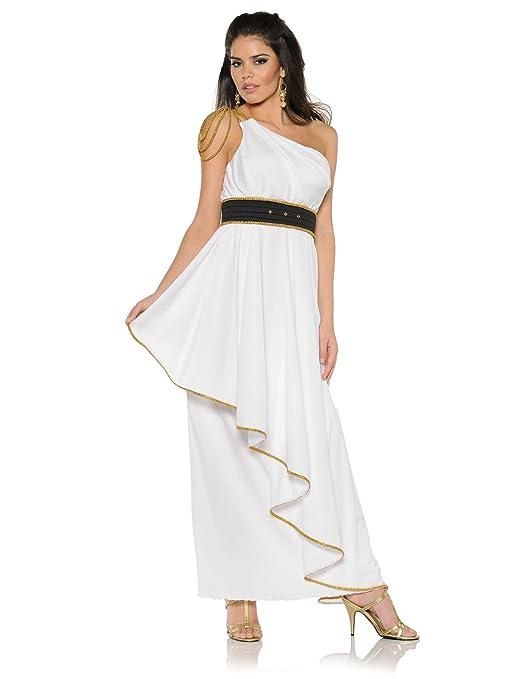 Elegant Athena Greek Goddess Adult Women\'s Roman Costume Dress Gown ...