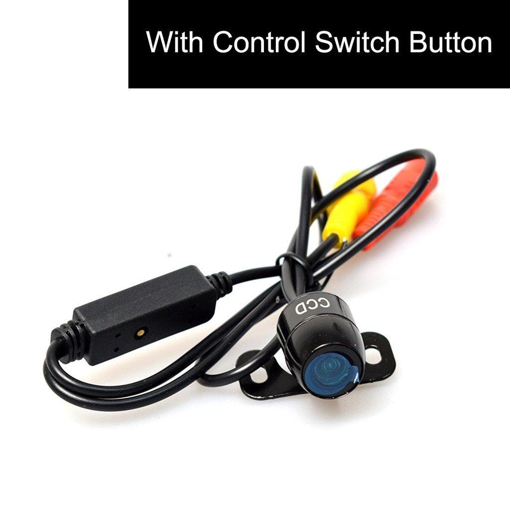 CoCar Auto PKW R/ückfahrkamera Frontkamera Seitenkamera Multifunktionales Knopfsteuerung Vorne//Hintern//Seiten Mini WEITWINKEL Wasserdicht Einparkhilfe 12V
