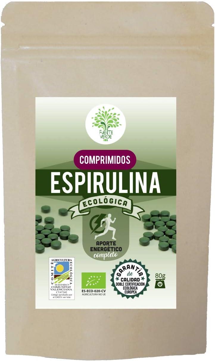 Espirulina ecológica Premium en comprimidos | 200 comprimidos ...