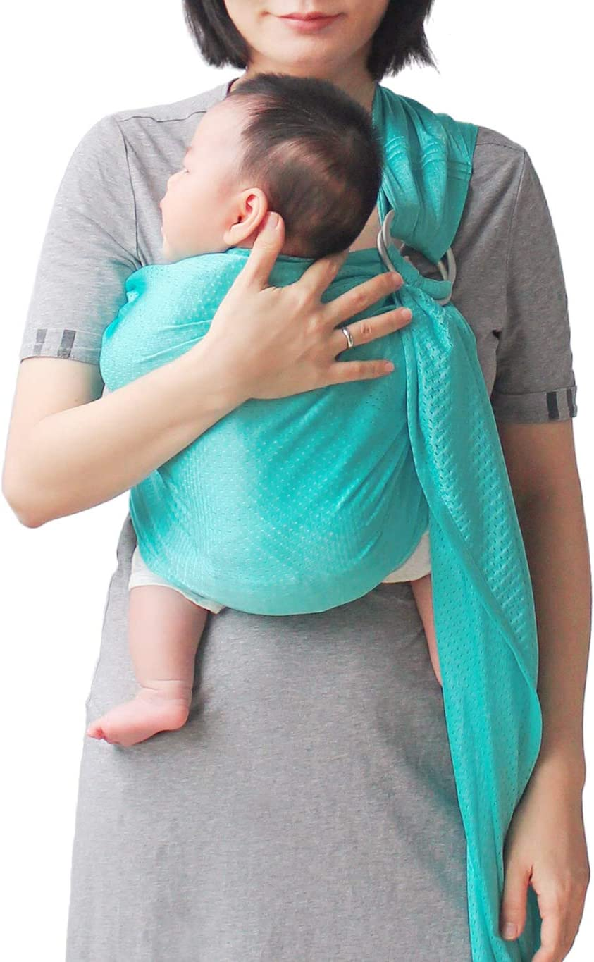 Dark Blue GudeHome Baby Wrap Infant Ring Sling Pouch Newborn to Toddler Travel-Quick Dry Water Pool Beach Carrier