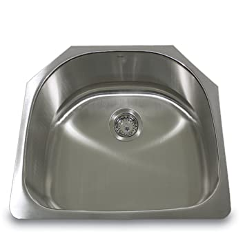 Wonderful Nantucket Sinks NS03i 23 Inch 18 Gauge D Bowl Undermount Stainless Steel  Kitchen