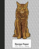 Recipe Paper: Book Somali Cat (Weezag Recipe Paper Notebook)