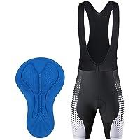 Culotte Ciclismo Tirantes Hombre Verano Pantalon Cortos MTB con Badana Gel Culote Ciclista Acolchado Pantalones Cortas…