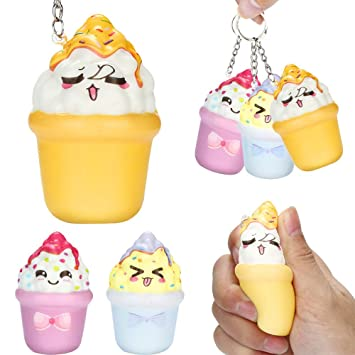 Amazon.com : XUANOU Squishies Kawaii Ice Cream Slow Rising ...