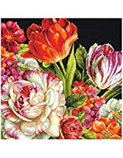 Dimensions 71-20079 Crafts Needlepoint Kit, Bouquet on Black