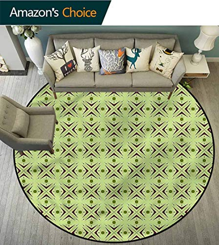 - RUGSMAT Mid Century Modern Washable Round Bath Mat,Atomic Boomerang Coffee Table Mat Non-Skid Living Room Carpet Round-55