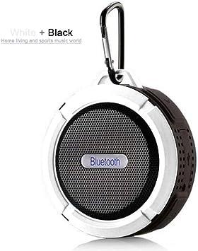 Qiyan Caja de Sonido para Exteriores Inalámbrico Mini Altavoz Bluetooth Subwoofer portátil Sistema de Sonido Envolvente Bluetooth Ducha Impermeable Altavoz en Altavoces portátiles Blanco: Amazon.es: Electrónica