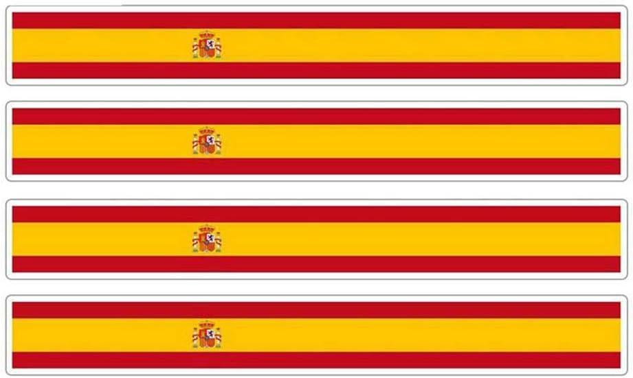 13cm x 1.7cm Etiqueta engomada de la bandera de las carreras de motos de la raya del coche Etiqueta del coche Bicicleta Moto Tuning España Etiquetas engomadas del coche pegatina de pared frases