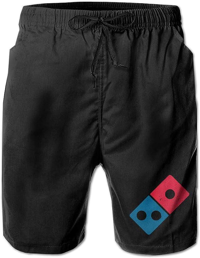 Dominos Pizza Logo Men/¡/¯s Beach Board Shorts Quick Dry Swim Truck Shorts