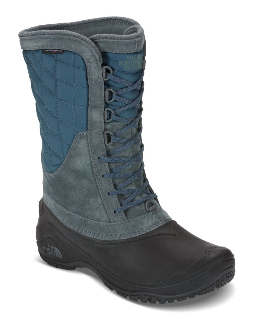 The North Face Womens Thermoball Utility Mid B01MT0U5L4 5 B(M) US|Turbulence Grey/Monterey Blue