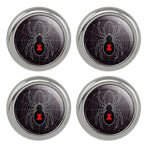 Black Widow Spider on Web Metal Craft Sewing Novelty Buttons - Set of 4