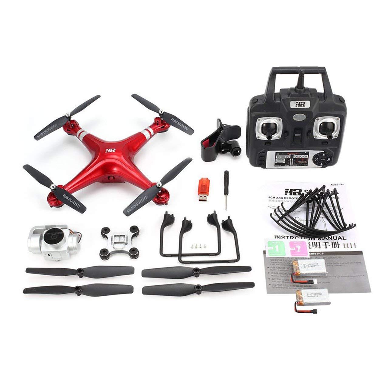 Tellaboull for FPV Drohne RC Quadcopter mit 1080P verstellbarem Weitwinkel-WiFi-HD-Kamera Live-Video-Höhenstand Halten Sie 2 Batterien