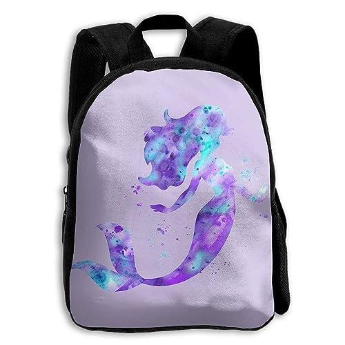 HOJJP Mochilas escolares para niños, niñas, niños, mochilas, mochilas, mochila, sirena púrpura: Amazon.es: Zapatos y complementos
