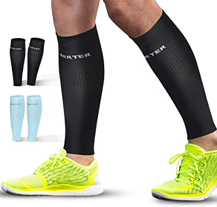 Travel Calf Compression Sleeves Leg Compression Socks for Runners Nurses Calf Guard Great for Running Varicose Vein /& Calf Pain Relief Shin Splint Cycling Maternity