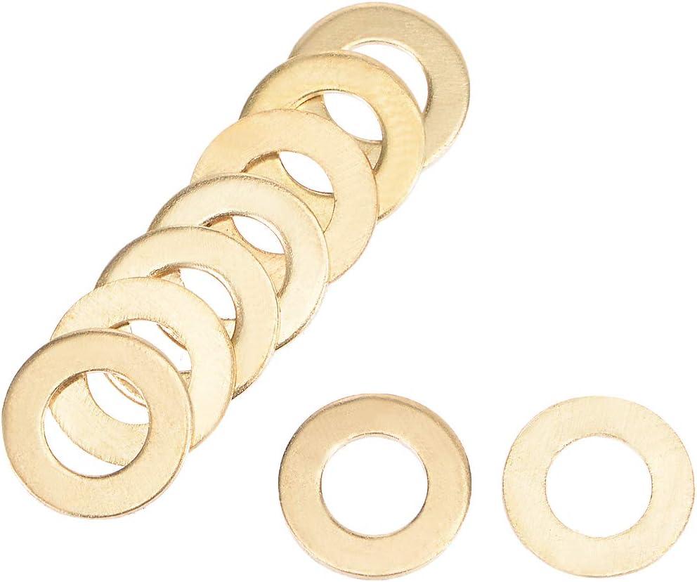 30Pcs 10mm x 16mm x 1mm Flat Copper Washer for Screw Bolt