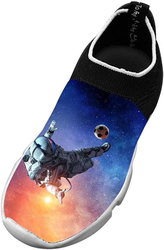XieZbd Childrens Astronaut Space Cute Fly Knit Sneaker Shoes