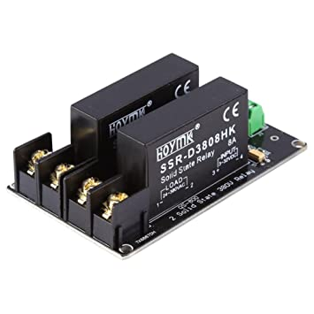 SODIAL 380V 8A 2 Channel Solid State Relay Board SSR Switch