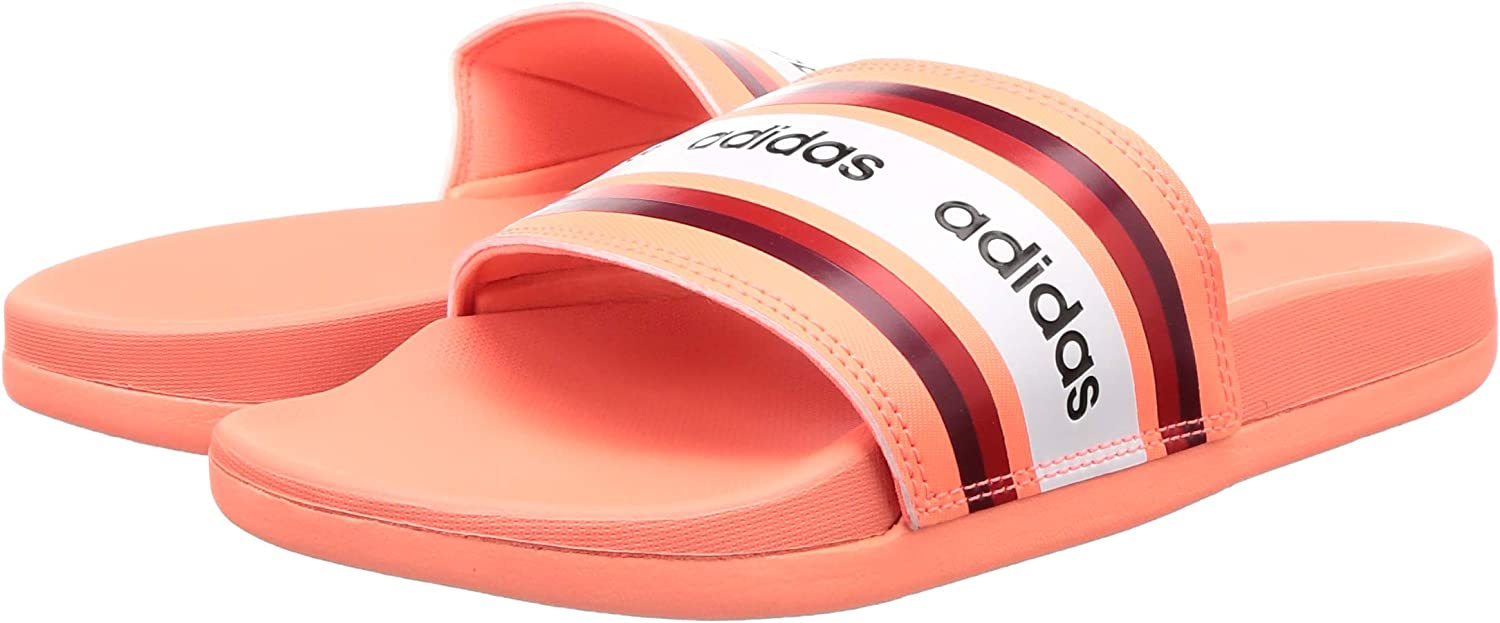 adidas Adilette Comfort, Zapatillas Deportivas para Mujer Signal Coral Collegiate Burgundy Ftwr White EAQK6