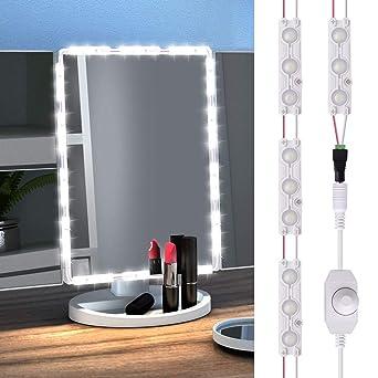 GEEKHOM Luces LED para Espejo, Kit de Luces para Maquillaje Cosmético, Tira de luz