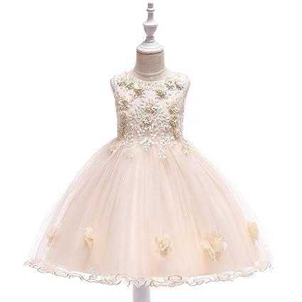 Amazon.com: NOMSOCR - Vestido de niña con flores para ...