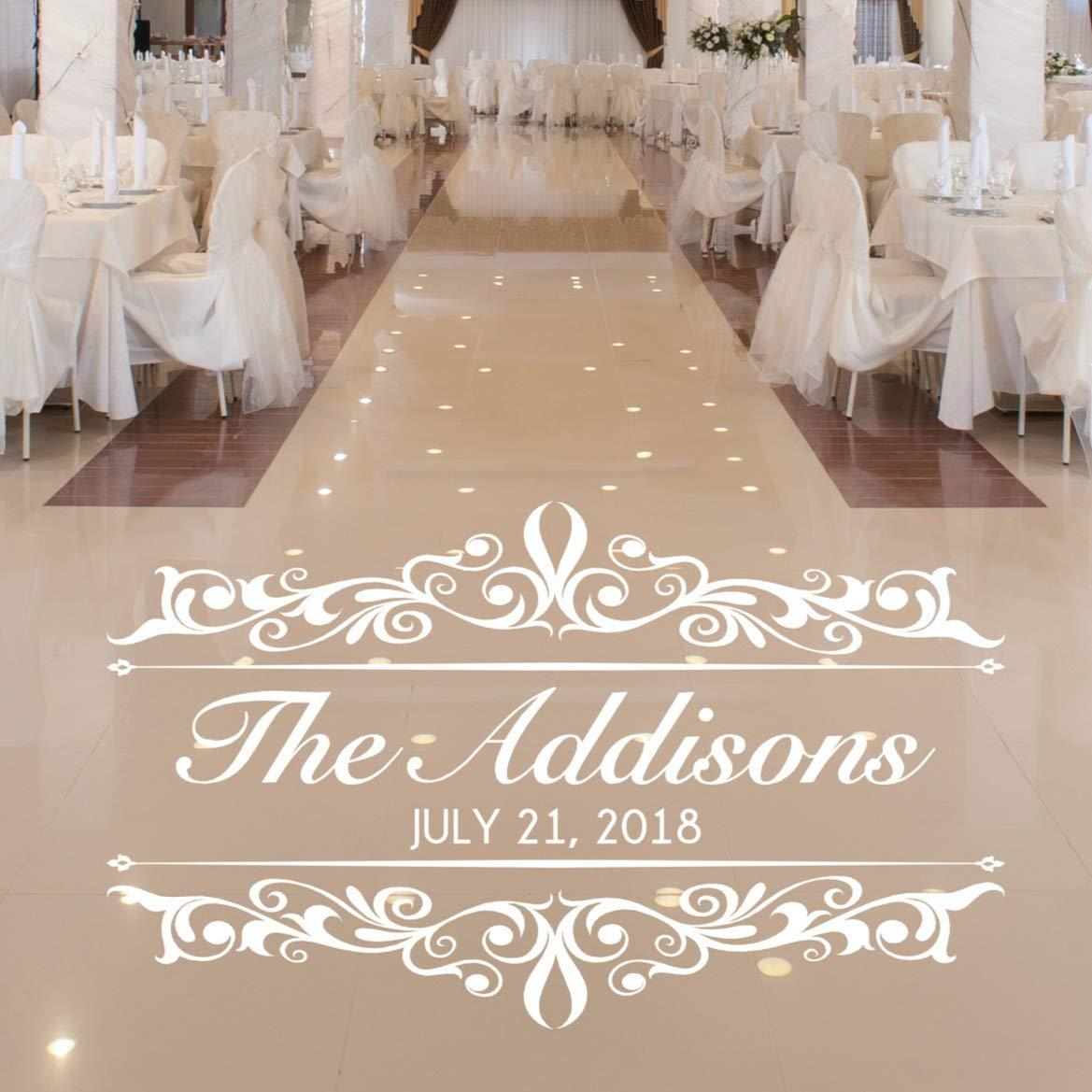 Vintage Wedding Decorations.Vinylwritten Vintage Wedding Decorations Dance Floor Decal Personalized Damask Wall Decor 30 Colors Several Sizes