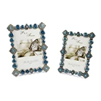 SXELODIE Vintage Creative Pearls Photo Frame-Glass Front,7Inches