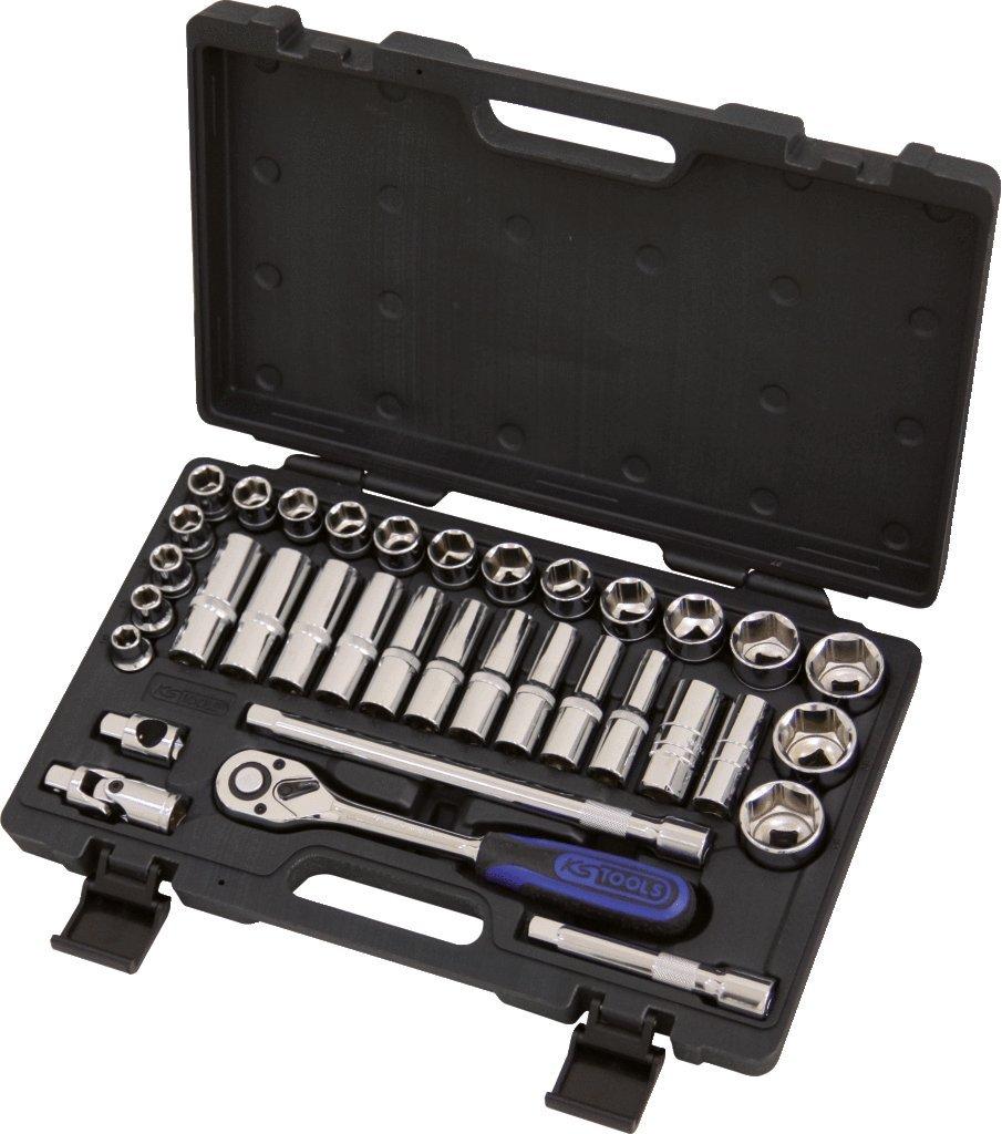 CHROMEplus 35 pcs KS Tools 918.0635 Coffret de douilles 1//2-10 /à 34 mm