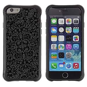 "Pulsar iFace Series Tpu silicona Carcasa Funda Case para Apple iPhone 6+ Plus(5.5 inches) , Errores Wallpaper Mariposas Naturaleza Arte Gris Negro"""