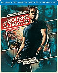 Cover Image for 'The Bourne Ultimatum (Steelbook) (Blu-ray + DVD + DIGITAL with UltraViolet)'