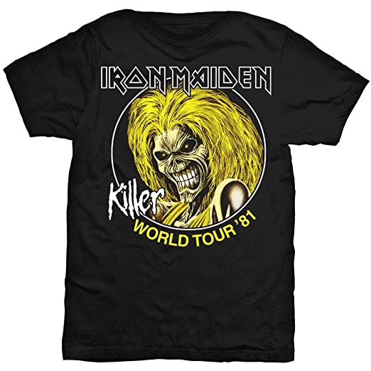 f109fa4984 Iron Maiden World Tour 81 Killers Steve Harris Official Tee T-Shirt Mens  Unisex (