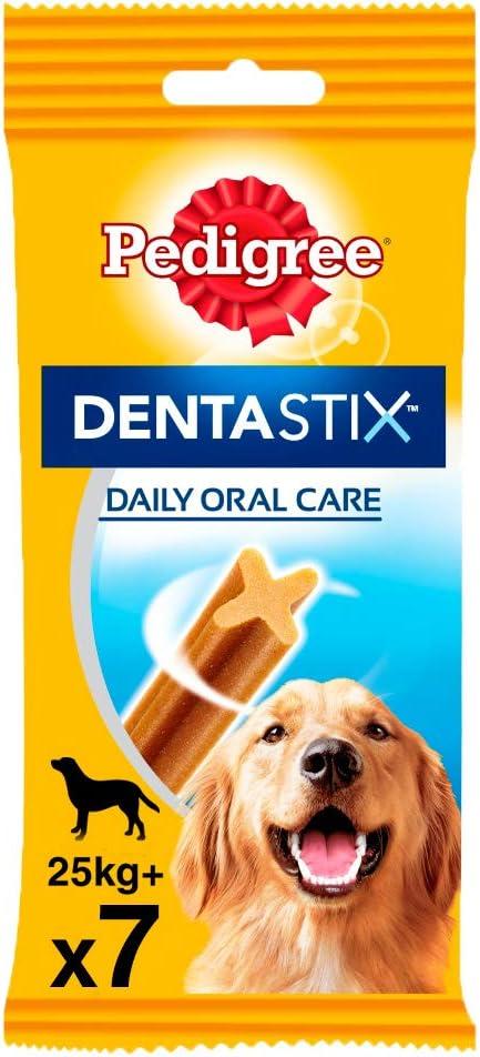Pack de 7 Dentastix de uso diario para higiene oral para perros ...