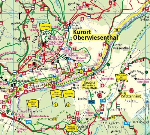 Erzgebirge Region Fichtelberg Rad Und Wanderkarte Mit