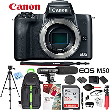 amazon com canon eos m50 mirrorless camera kit w ef m15 45mm and
