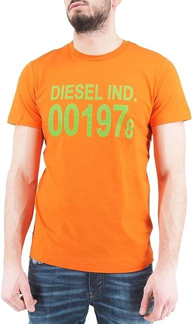 Diesel, Camiseta T-Diego-001978, Naranja, DSL_00SASA 0AAXJ 38L: Amazon.es: Ropa y accesorios