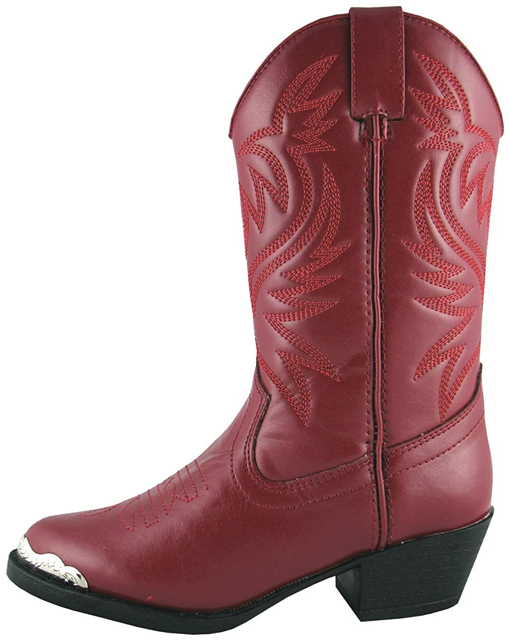 1f0e324a2ad Smoky Mountain Toddler-Girls' Mesquite Western Boot Round Toe Red 5.5 D(M)  US