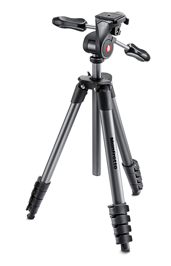 MK290XTA3-3WUS Renewed Manfrotto 290 Xtra Aluminum 3-Section Tripod Kit with 3-Way Head