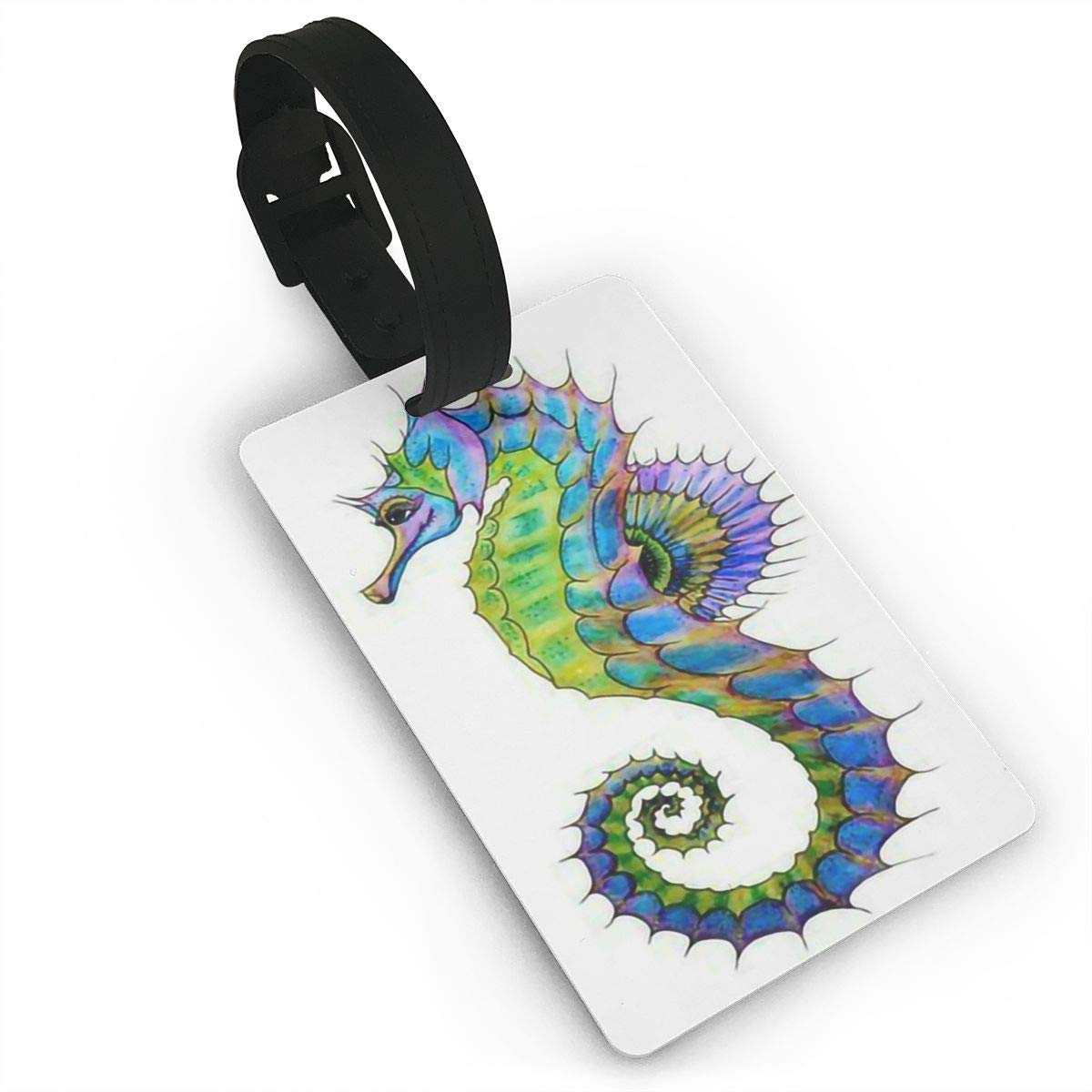 Sea Horse Baggage Tag For Travel Bag Suitcase Accessories 2 Pack Luggage Tags