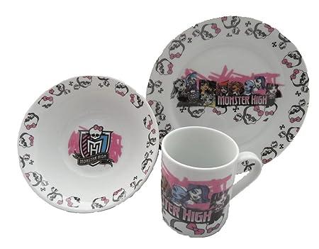 3 pièces en céramique Set petit déjeuner de Monster High Girl - Caractères  sc 1 st  Amazon UK & 3 pièces en céramique Set petit déjeuner de Monster High Girl ...