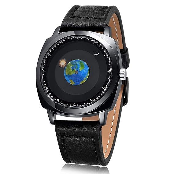 Relojes Relojes para Hombre Relojes de Silicona Digitales para Hombres Relojes Moda (Color : Leather): Amazon.es: Relojes