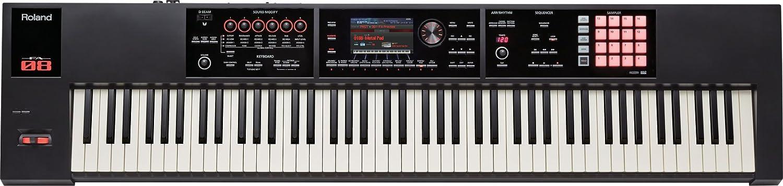 ROLAND FA-08 88keys USB Black MIDI keyboard - MIDI Keyboards (88 keys, Buttons, Lever, Rotary, Red, USB, 1415 mm, 340 mm)