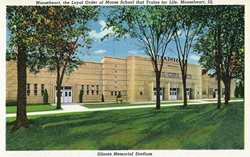 Mooseheart, Illinois - Exterior View of the Illinois Memorial Stadium (16x24 Fine Art Giclee Gallery Print, Home Wall Decor Artwork Poster)