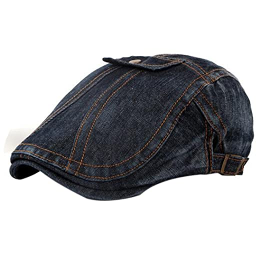 fd76a0268cd Amazon.com  Joylive Denim Peaked newsboy Hats Casual Jean Beret Caps ...