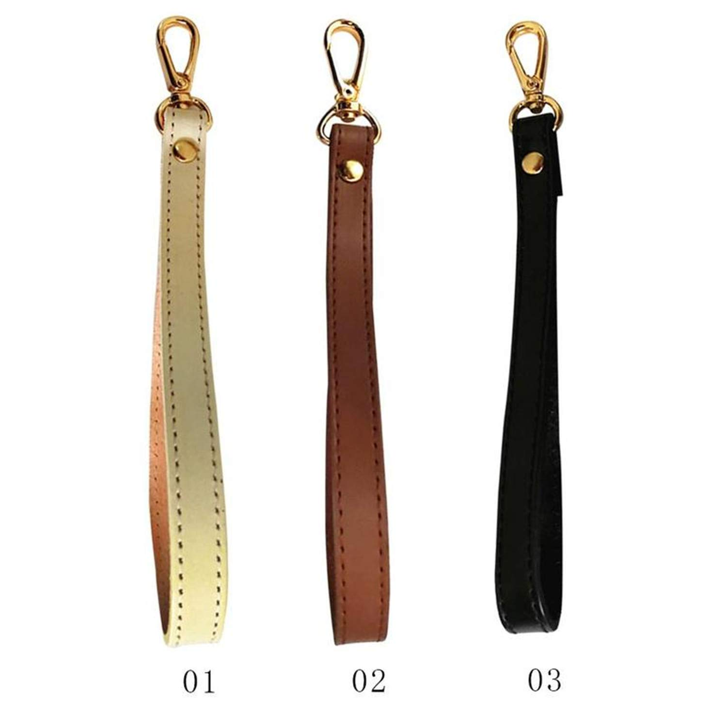 Anhon Handles For Handbag Leather Bag Strap Wrist Replacement For Clutch Purse Bags Accessories Wrsit Belt,Brown,Onesize
