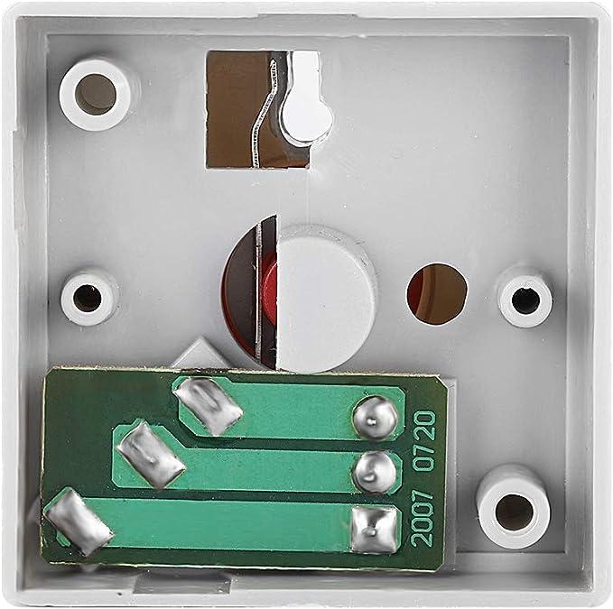 Pulsante momentaneo di emergenza a pulsante pulsante di emergenza in plastica sicura con allarme in plastica