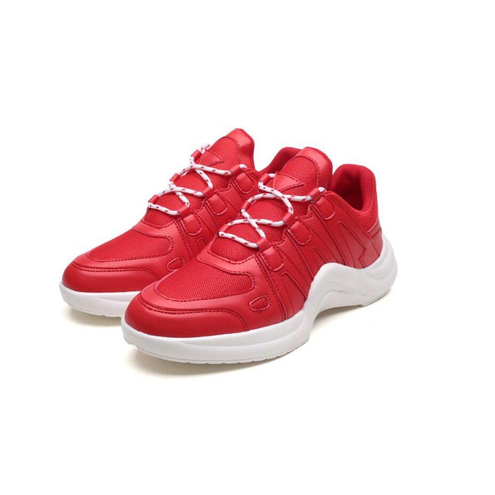 MuMa Männer Turnschuhe Turnschuhe Walking Outdoor leichte atmungsaktive Mesh Schuhe (Farbe   Weiß, größe   EU41 UK7.5-8 CN42)