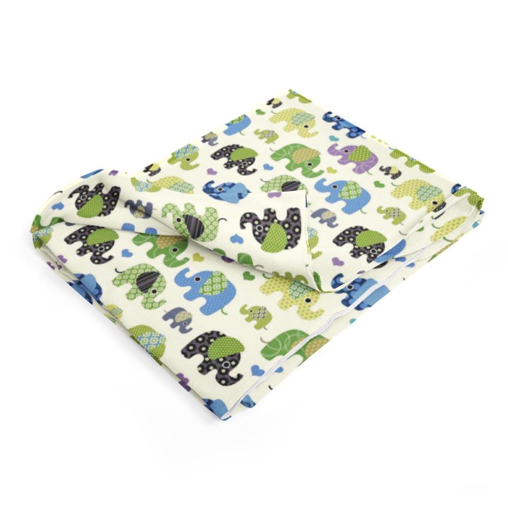 TherapieDecke Elefanten Gewichtsdecke - Schwere Decke für Kinder Jugendliche mit Schlafproblemen und Funktionsstörungen. Hergestellt in Europa, Größe  60x100 cm, 2 kg