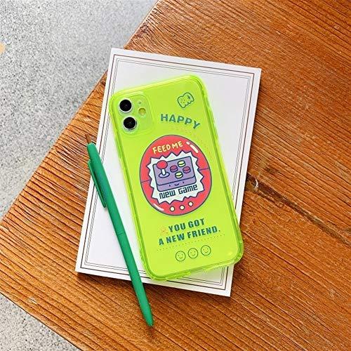 RUNEEE Fluorescente Color sólido Transparente Caja del teléfono for iPhone 11 Pro MAX XR X XS MAX 7 8 Plus de neón del Caso del Color del Caramelo de la contraportada
