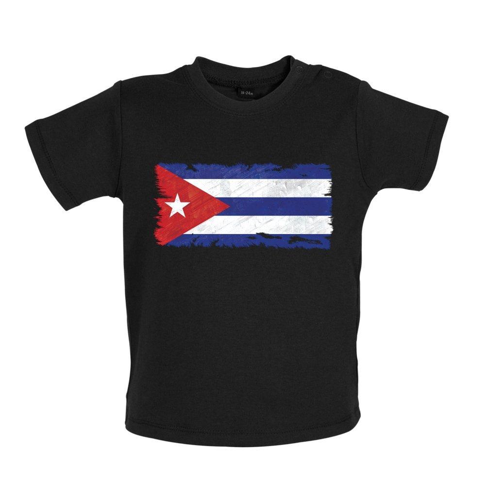3-24M Dressdown Cuba Grunge Style Flag Baby T-Shirt 8 Colours